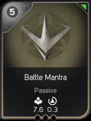 Battle Mantra card