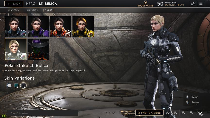Lt. Belica Gunmetal Polar Strike skin