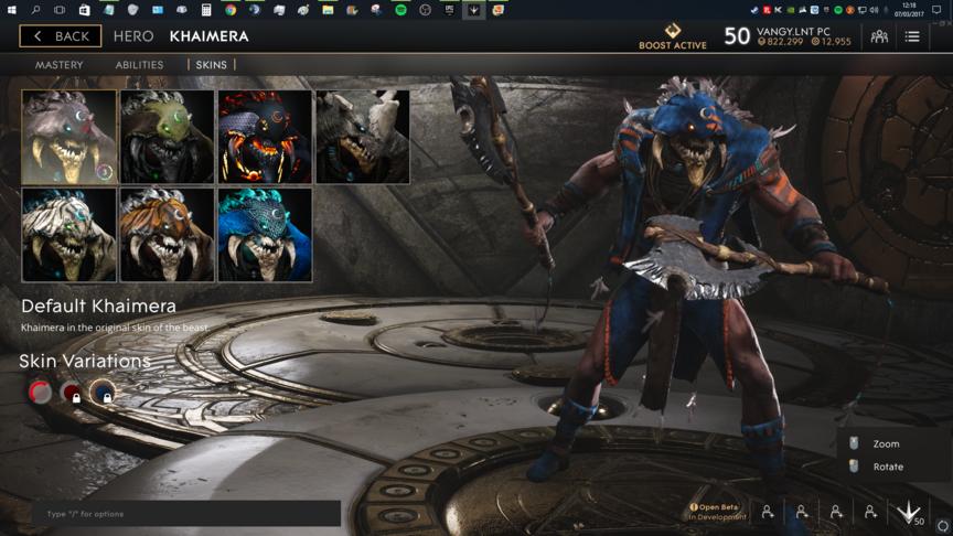 Khaimera Blue Default skin