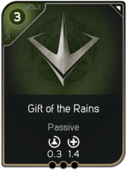 Gift of the Rains card