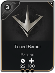 Tuned Barrier card