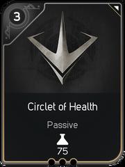 Circlet of Health card