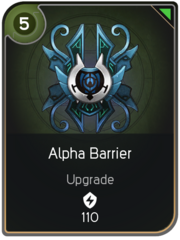 Alpha Barrier card