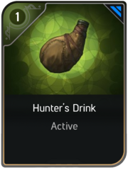 Hunter's Drink card