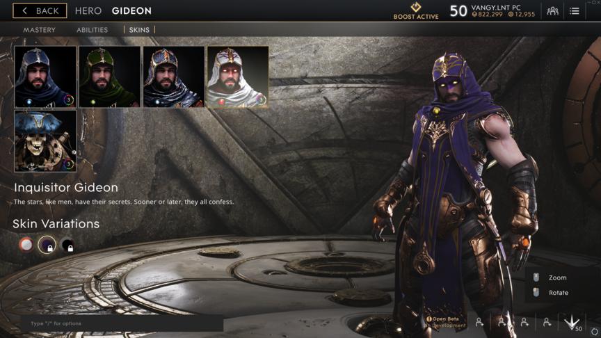Gideon Purple Inquisitor skin