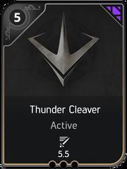 Thunder Cleaver card