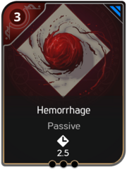 Hemorrhage card