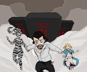 Jack running from monoliths by liujuin-d7ye92l