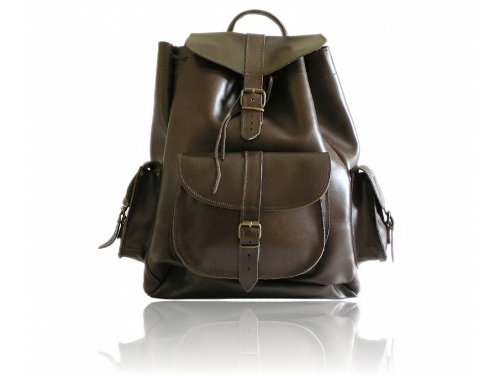 File:Large Brown Leather Backpack.jpg