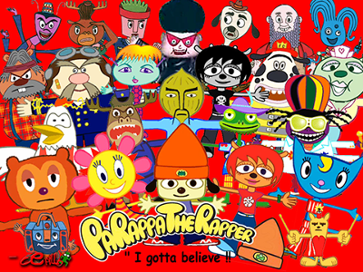 File:PaRappa Characters.png