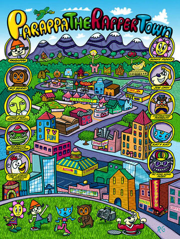 File:Parappa The Rapper Town poster.jpg
