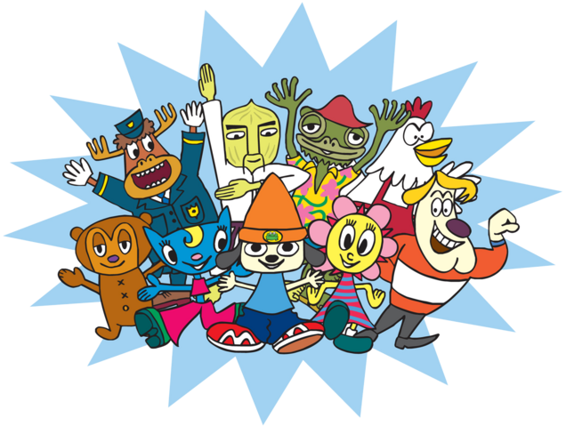 File:PaRappa The Rapper groupshot.png