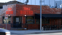 Tom's Bistro outside