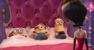 Minions in bed