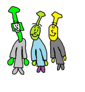 Duck, Oliver, and Stepney as Otti Psi, Romeo Patti, and Gonzo.