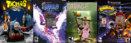 Thomas Arena, The Legend of Ten Cents 1, Courage, and Theodore Bandicoot 4.