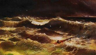 Aivasovsky Ivan Constantinovich storm 1886 IBI