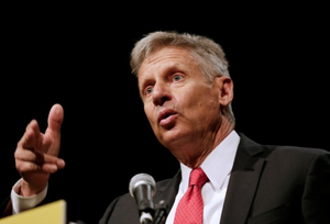 Gary Johnson pointing