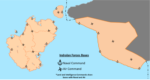 Indralan military map