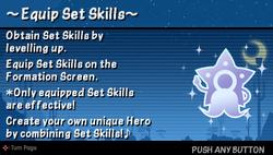 Equip set skillz