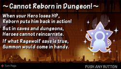 Cannot reborn in dungeon