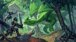 Green dragon fight
