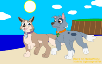 Gift rocky and tundra s beach walk by lightningwolf710-dae8xff