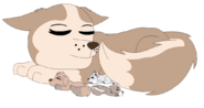 Gift tundra and newborn pups redrawn by raindroplily-d8jasyc