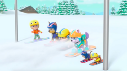 PAW Patrol Pups Save a Snowboard Competition Scene 10