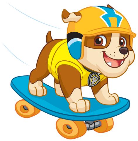 Plik:PAW Patrol Rubble Skateboard.png