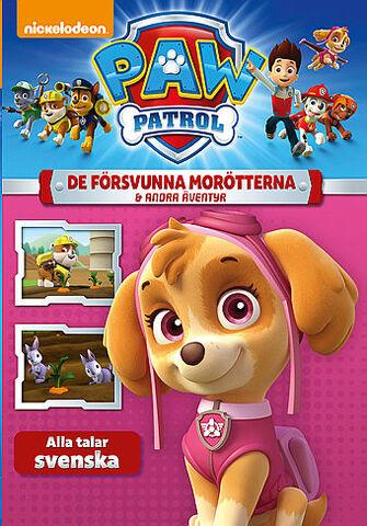 File:PAW Patrol De försvunna morötterna & andra äventyr DVD.jpg
