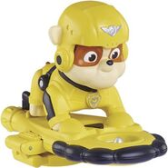 PAW Patrol Air Rescue Rubble, Pup Pack and Badge