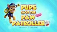 PAW Patrol Pups Save the PAW Patroller Title Card