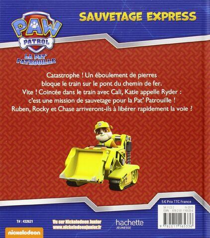 File:PAW Patrol Pat' Patrouille Sauvetage express Back Cover.jpg
