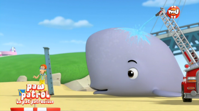 File:La Pat' Patrouille - Capitaine Turbo and Baby Whale - Very Big Baby.png