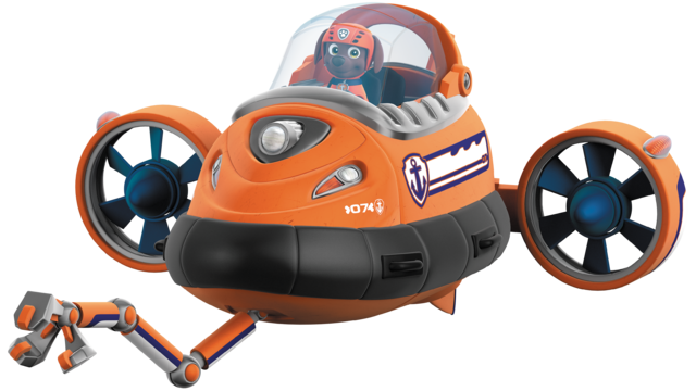File:Nickelodeon Nick Jr. PAW Patrol Zuma in His Submarine with Claw.png