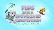 Pups Save a Snowboard Competition (HD)