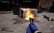 HeatStreet burning van