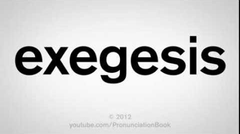 How to Pronounce Exegesis