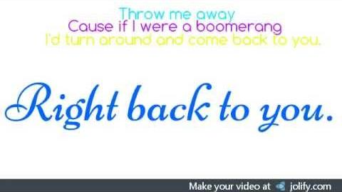 Boomerang- The Summer Set(lyrics)