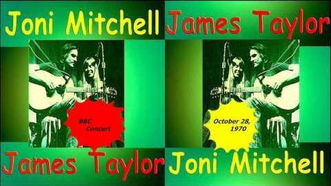 Joni Mitchell and James Taylor 1970 BBC Concert