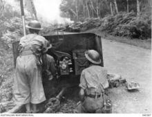 Australian Army defending Malaya, 1942