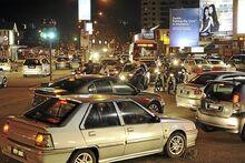 Traffic congestion at Kelawai Road, George Town, Penang