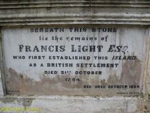 Francis light grave penang