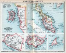 1854 map of the Straits Settlements