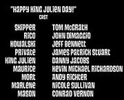 Happy King Julien Day Cast