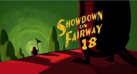 Showdown on fairway 18 title