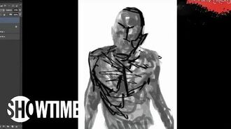 Penny Dreadful Comic Time-Lapse Art Drawing The Creature