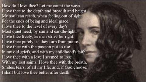 Elizabeth Barrett Browning ~ How Do I Love Thee? poem with text