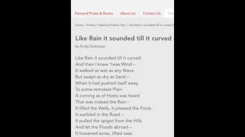 Like Rain it Sounded Till it Curved by Emily Dickinson